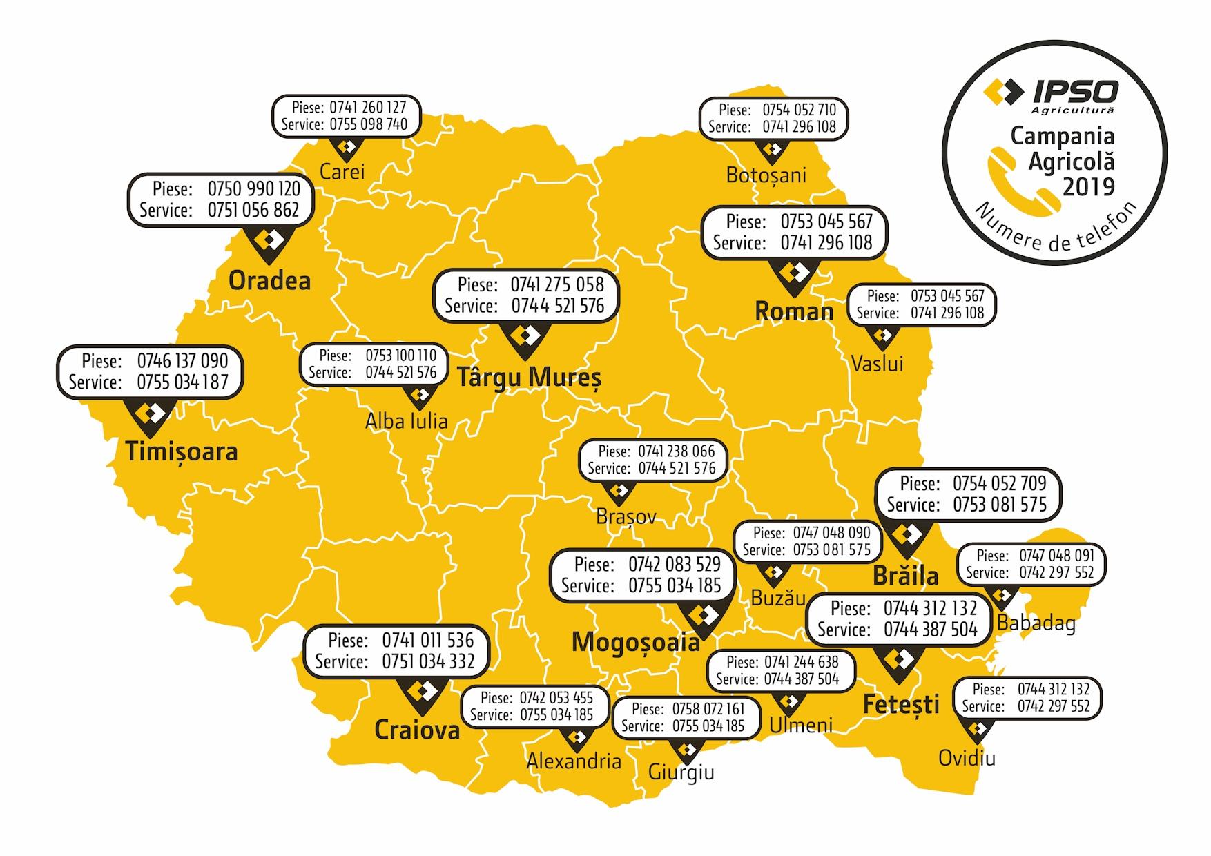 IPSO AGRICULTURĂ: NUMERE DE TELEFON PENTRU SITUAȚIILE DE URGENȚĂ ȘI PROGRAM SPECIAL PENTRU CAMPANIA AGRICOLĂ 2019