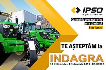 IPSO AGRICULTURĂ ADUCE LA INDAGRA 2019 UTILAJE PERFORMANTE
