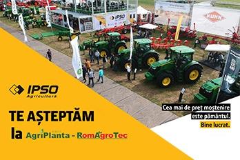 IPSO AGRICULTURĂ ÎI AȘTEAPTĂ PE FERMIERI LA AGRIPLANTA-ROMAGROTEC 2019