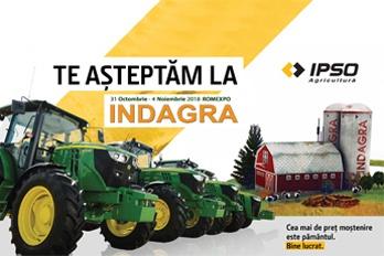 IPSO AGRICULTURĂ ADUCE LA INDAGRA CELE MAI REPREZENTATIVE UTILAJE DIN PORTOFOLIU