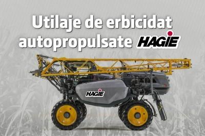 IPSO AGRICULTURĂ COMERCIALIZEAZĂ GAMA UTILAJE DE ERBICIDAT AUTOPROPULSATE HAGIE